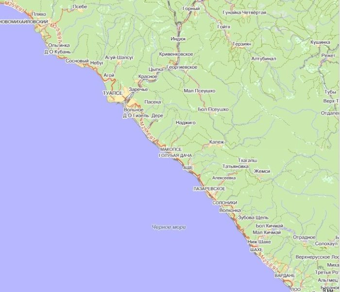 Карта побережья